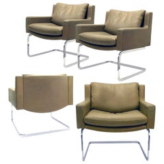 1 of 4 Executive Armchairs by Robert Haussmann for the Sede, 1965