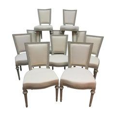 10 Swedish Gustavian Side Chairs
