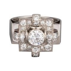 1.20 Carat French Art Deco Ring