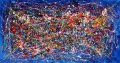 Ocean - Tribute Jackson Pollock, Painting, Acrylic on Canvas