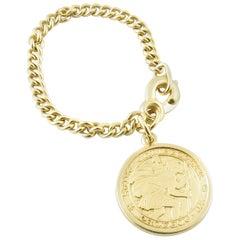14 Karat Yellow Gold St. Christopher Watch Fob