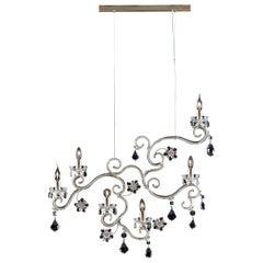 1480 6-Lights Metal Suspension Lamp