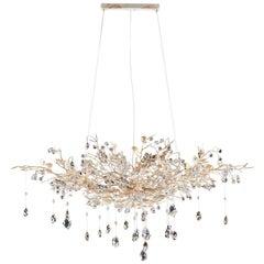 1482 8 Lights White Suspension Lamp
