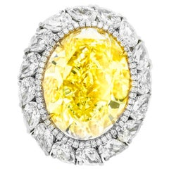 16.30 Fancy Intense Yellow Diamond Ring