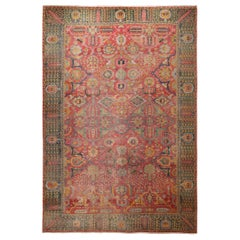 17th Century Antique Persian Isfahan Rug