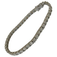 18 Carat White Gold 10 Carat Diamonds Tennis Bracelet