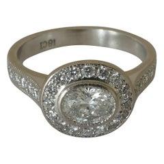 18 Carat White Gold Diamond Engagement or Dress Ring