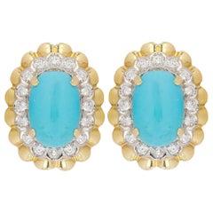 18 Karat Van Cleef & Arpels Turquoise Earrings