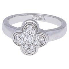 18 Karat White Gold Alhambra Van Cleef & Arpels Ring