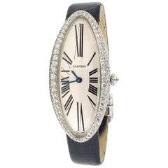 Cartier  18 Karat White Gold Baignoire Allongée Diamond Watch