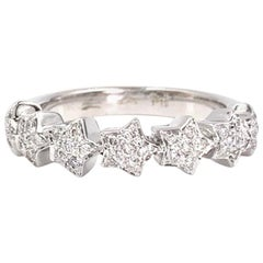 18 Karat White Gold Pasquale Bruni Diamond Star Ring
