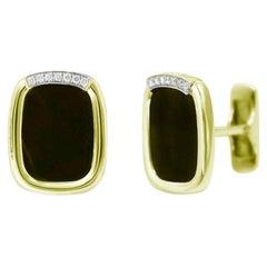 18 Karat Yellow Gold Fine Jewelry Statement Cufflinks
