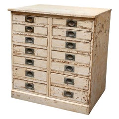 1860s English Collector's Drawer Cabinet Chest