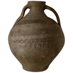 "18th Bridal Jug Grey Picher ""Cantaro"" from Calanda, Spain, Terracotta Vase"