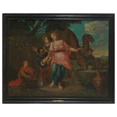 18th Century, Willem Muys, Rebekka and Eliëzer at the Water Source, Oil on
