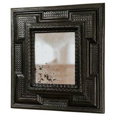 18th Century Ebonized Pearwood Mirror