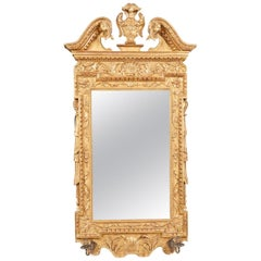 18th Century George III Irish Water Gilded Gesso Mirror