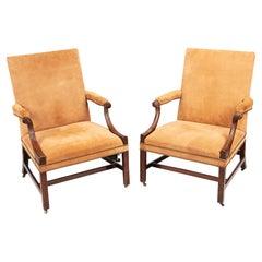 18th Century George III Pair of Gainsborough Chairs
