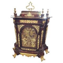 18th Century Italian Louis XV Breguet Clock Signed Walnut Gilt Bronze, 1750s