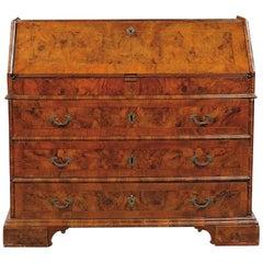 18th Century, Italian Walnut Wood Bureau Chest of Drawer