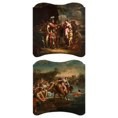 18th Century, Pair of Italian Paintings with Stories of Rome