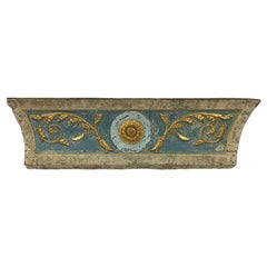 18th Century Portuguese Blue Gold and White Fragment Headboard Piece
