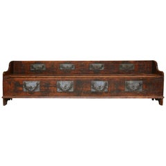 18th Century Swedish Folk Art Bench