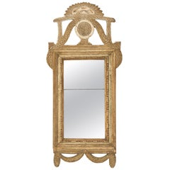 18th Century Swedish Gustavian Period Mirror with Original Surface