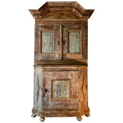 18th Century Swedish Period Baroque Cabinet