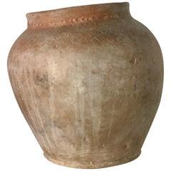 18th Century Terracotta Irregular Handmade Vase Vessel Planter, Spain