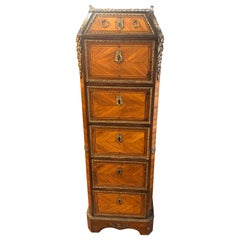 18th Century France Wood Louis XVI Rosewood Kingwood Chest of Drawers, 1780s