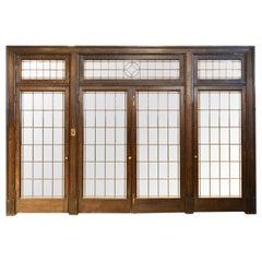 1905 Dark Oak Transom Four Door Unit