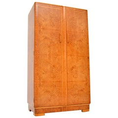 1920s Art Deco Burr Walnut Compactum Wardrobe