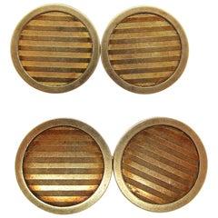 1925 Art Deco Riker Bros 14 Karat Gold Cufflinks