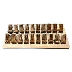 1940s-1950s Italian Brass Drawer or Door Handles or Pulls,  sets of 12
