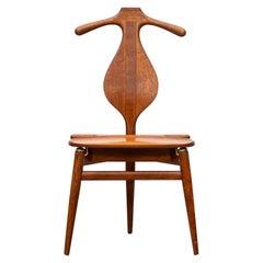 1940s Brown Oak and Teak Valet Chair by Hans Wegner 'b'