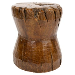 1940s Indonesian Hand Carved Stool