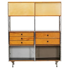 1940s Multicolored Plywood, Fiberglass, Metal ESU Shelf Charles & Ray Eames