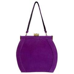 1940s purple Suede Handbag