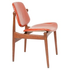 1950s Danish Solid Teak Dining Chair by Arne Vodder for France & Daverkosen