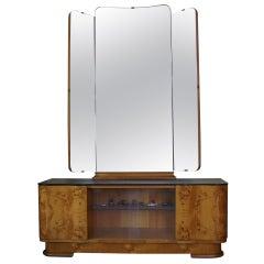 1950s Dressing Cabinet with Mirror by UP Závody, Czechoslovakia