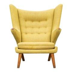 1950s Yellow Papa Bear Chair by Hans Wegner 'i'