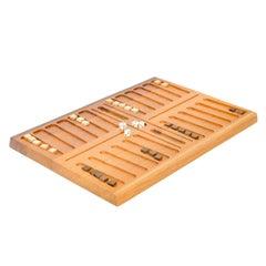 1960s Danish Teak Backgammon Set by Henning Bang