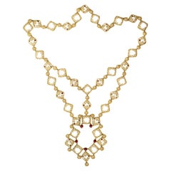 1960s Frascarolo Gold and Enamel Necklace