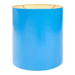 1960s Lacquered Blue Lamp Shade