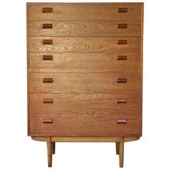 1960s Rustic Tall Scandinavian Danish Farmhouse Teak Highboy Dresser Cabinet