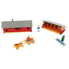 1960s Scandinavian Modern Farmhouse Toys by Kay Bojesen