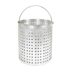 1960s Spun Aluminum Large Perforated Basket