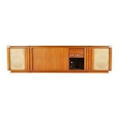 1960s Three-Piece Walnut Stereo Cabinet by Barzilay
