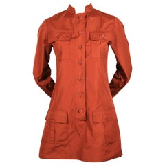 1960's YVES SAINT LAURENT rust safari tunic